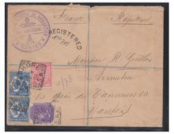 AUSTRALIE DU SUD--LETTRE DE SEMAPHORE(ADELAÏDE) POUR NANTES-- 1902- HISTOIRE DES VOILIERS NANTAIS-- LE DU COUËDIC - Afrique Du Sud (...-1961)