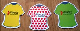 3 Magnet Tour De France Vendée 2018 - Maillot Leader - Sports
