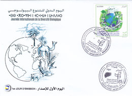 Algeria 2018, Biodiversity Day 1v.cpl.set On Official Illustrated FDC- SKRILL PAYEMENT ONLY - Algeria (1962-...)