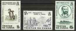 Tristan Da Cunha - 1987 Shipwrecks Issue 3 Set Of 3 MNH **     SG 426-8    Sc 412-4 - Tristan Da Cunha