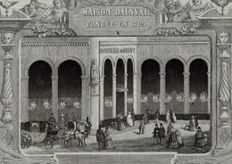 1864 HODIEUX ET SALVY LYON CHALES DENTELLES ETOFFES  Pour La Comtesse De La Flechere B.E. VOIR SCANS - France