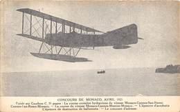 MONACO-CONCOUR 1921, POIREE SUR CAUDRON - LA COURSE CROISIERE HYDRAVIONS DE VITESSE MONACO, CANNES, SAN-RENO - Monaco