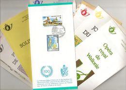 BELG.1987 Année Complète : Timbres Et Blocs Avec Cachet Premier Jour Sur 17 Folders FR. - FDC