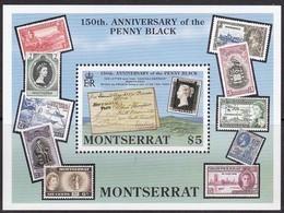 Montserrat 1990 Yvertnr. Bloc 54 *** MNH Cote 50 FF Penny Black - Montserrat