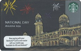 Malaysia Starbucks Card  National Day 2016 -  2016-6125 RR - Gift Cards