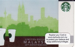 Malaysia Starbucks Card  15th Anniversary Starb. Malaysia  2012 -  2012-6084  RAR - Gift Cards