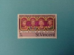 1977 ST. VINCENT FRANCOBOLLO NUOVO STAMP NEW MNH** SILVER JUBILEE OF HER MAJESTY QUEEN ELIZABETH II 1c - St.Vincent (1979-...)