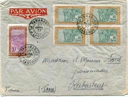 MADAGASCAR LETTRE PAR AVION DEPART TANANARIVE 27 AVRIL 37 MADAGASCAR POUR LA FRANCE - Madagascar (1889-1960)