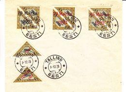Estonie - Document De 1923 - Oblit Tallinn - Avec 5 Timbres Poste Aérienne - Valeur 895 Euros - Rare - Estonia