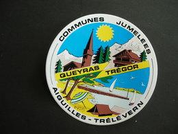 """Trélévern (22 Côtes D'Armor) Autocollant: Communes Jumelées: Aiguilles - Trélévern"""". Queyras - Trégor - Autres Collections"""