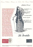1990 DOCUMENT FDC LA DENTELLE - Documents Of Postal Services