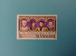 1977 ST. VINCENT FRANCOBOLLO NUOVO STAMP NEW MNH** SILVER JUBILEE OF HER MAJESTY QUEEN ELIZABETH II 5 C - St.Vincent (1979-...)