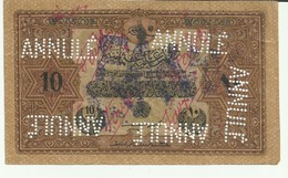 Turquie 10 Piastres 1918-1922 Faux Ayant Circulé - Turkey