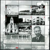 XE0583 Dominican 2018 Architect's Works Church Bell Tower Building S/S MNH - Dominica (1978-...)