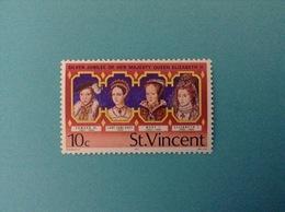1977 ST. VINCENT FRANCOBOLLO NUOVO STAMP NEW MNH** SILVER JUBILEE OF HER MAJESTY QUEEN ELIZABETH II 10 C - St.Vincent (1979-...)