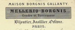 QUELLE HISTOIRE !! MELLERIO BORGNIS MAISON BORGNIS GALLANTY à PARIS BIJOUTIER JOAILLIER ORFEVRE Pour Mr SERRIGNY - France