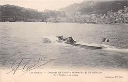 """MONACO-LES SPORTS, COURSES DE CANOTS AUTOMOBILE DE MONACO , LE """"NAPIER"""" EN COURSE - Monaco"""