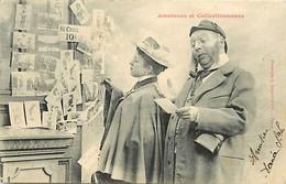 Ref X555- Phototypie Bergeret - Couples - Couple De Collectionneur Et Amateur De Cartes Postales - Carte Postale - - Bergeret
