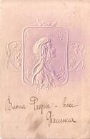 "CARTOLINA ""GIOVANETTA In Rilievo"" ILLUSTRATORE KIRCHNER(stile) 1904. - Kirchner, Raphael"