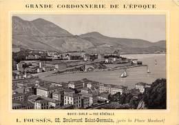MONTE-CARLO- VUE GENERALE - CARTE PUB , GRANDE CORDONNERIE DE L'EPOQUE, L. FOUSSES 62 BLD SAINT-GERMAIN - Monte-Carlo