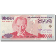 Billet, Turquie, 10,000,000 Lira, L.1970 (1999), 1970-01-26, KM:214, NEUF - Turquie