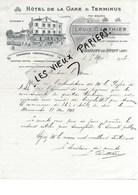 01 - Ain - AMBERIEU-EN -BUGEY - Facture GANTHIER - Hôtel De La Gare Et Terminus - 1913 - REF 96A - France