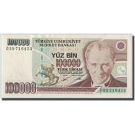 Billet, Turquie, 100,000 Lira, L.1970 (1991), 1970-01-26, KM:205, SPL - Turquie