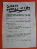 REPRINT-PONATIS!!!2.world War.Carobno Nemsko Orozje Meteor - Unclassified