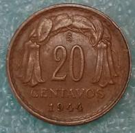 Chile 20 Centavos, 1944 - Chile