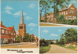 Groeten Uit Hoogerheide - Postkantoor Dennenlaan, R.K. Kerk, St. Philomenaklooster - (Noord-Brabant, Holland) - Andere