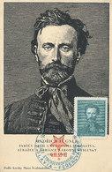 D34568 CARTE MAXIMUM CARD RR 1938 CZECHOSLOVAKIA - JINDRICH FÜGNER - CO-FOUNDER SPORT ORGANIZATION SOKOL CP ORIGINAL - Stamps