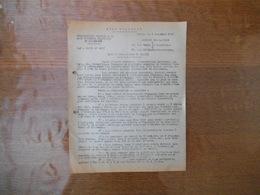 4 NOVEMBRE 1943  COMMISSARIAT GENERAL A LA MAIN D'OEUVRE FRANCAISE  EN ALLEMAGNE NOTE CONCOURS PLUS BELLES LETTRES D'ENF - Historical Documents