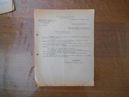2 DECEMBRE 1943  COMMISSARIAT GENERAL A LA MAIN D'OEUVRE FRANCAISE  EN ALLEMAGNE NOTE J. DESMAREST - Historical Documents
