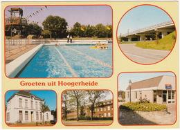 Groeten Uit Hoogerheide - Zwembad, Pastorie, Postkantoor, Viaduct, St. Philomenaklooster - (Noord-Brabant, Holland) - Andere