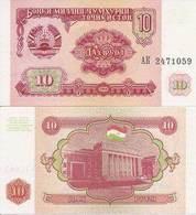 Tajikistan  P-3  10 Rubles  1994  UNC - Tadjikistan