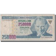 Billet, Turquie, 250,000 Lira, L.1970 (1992), KM:207, B+ - Turquie