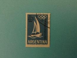 1964 ARGENTINA FRANCOBOLLO USATO STAMP USED JUEGOS OLIMPICOS TOKIO 11 + 5 P - Posta Aerea