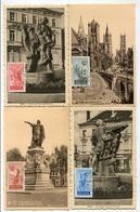 !!! SERIE DE 1949 SUR CARTES MAXIMUM CACHETS DE 1949 - Maximumkarten (MC)