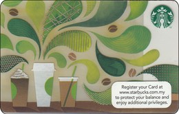 "Malaysia Starbucks Card  ""How To Make Coffee"" 2015-6132 - Gift Cards"