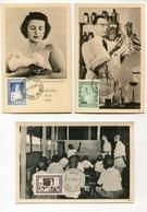 !!! SERIE DE 1951 SUR CARTES MAXIMUM CACHETS DE 1951 - Maximumkarten (MC)