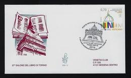 """2014 VATICANO """"SALONE LIBRO TORINO"""" FDC VENETIA - FDC"""