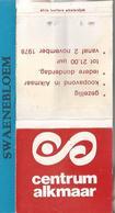 Matchbook.- CENTRUM ALKMAAR 1978. Pochette D'Allumettes. Lucifermapje - Luciferdozen