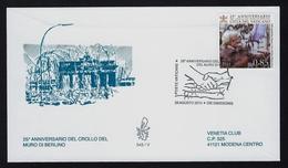 """2014 VATICANO """"25° ANNIVERSARIO CROLLO MURO DI BERLINO"""" FDC VENETIA - FDC"""