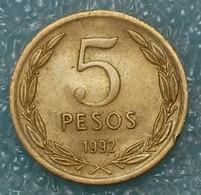 Chile 5 Pesos, 1992 Round Shape - Chili