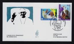 """2014 VATICANO """"VIAGGI PAPA FRANCESCO"""" FDC VENETIA - FDC"""