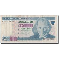 Billet, Turquie, 250,000 Lira, L.1970 (1988), 1970-01-26, KM:211, TB - Turkey