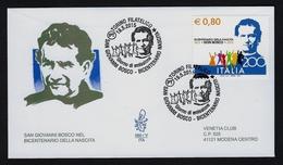 "2015 VATICANO ""BICENTENARIO NASCITA DON BOSCO / CONGIUNTA ITALIA"" FDC VENETIA - FDC"