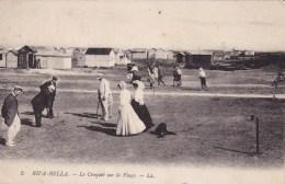 Riva Bella Le Croquet Sur La Plage Circulée En 1921 - Riva Bella