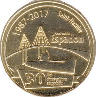 44 SAINT NAZAIRE SOUS-MARIN ESPADON N°4 MÉDAILLE MONNAIE DE PARIS 2017 JETON MEDALS TOKEN COINS - Monnaie De Paris