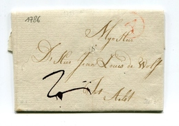 !!! MARQUE POSTALE D'ANVERS DE 1786 AVEC TEXTE - 1714-1794 (Paises Bajos Austriacos)